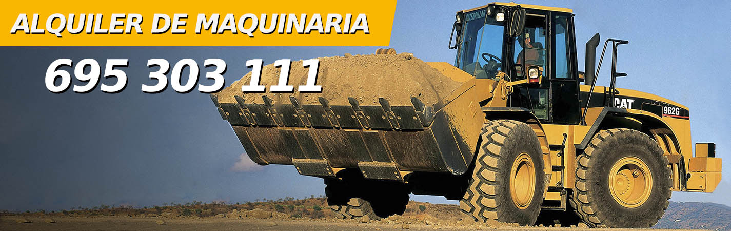 Alquiler de máquinas de excavación y obras en Madrid, 695 303 111